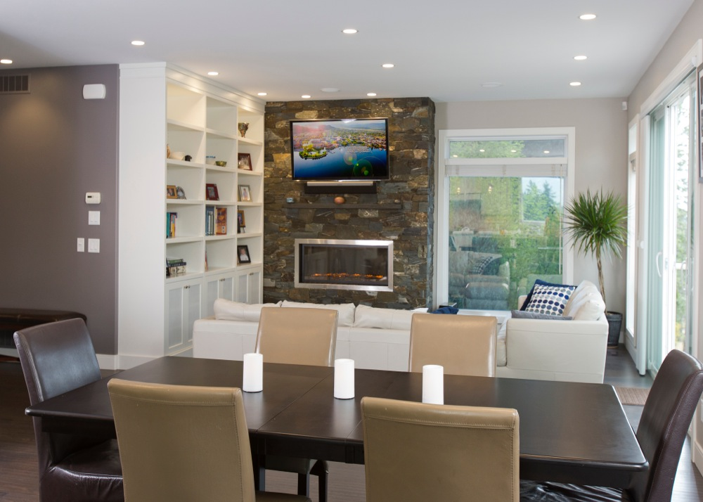 Living room renovations by Accent Renovations Kelowna