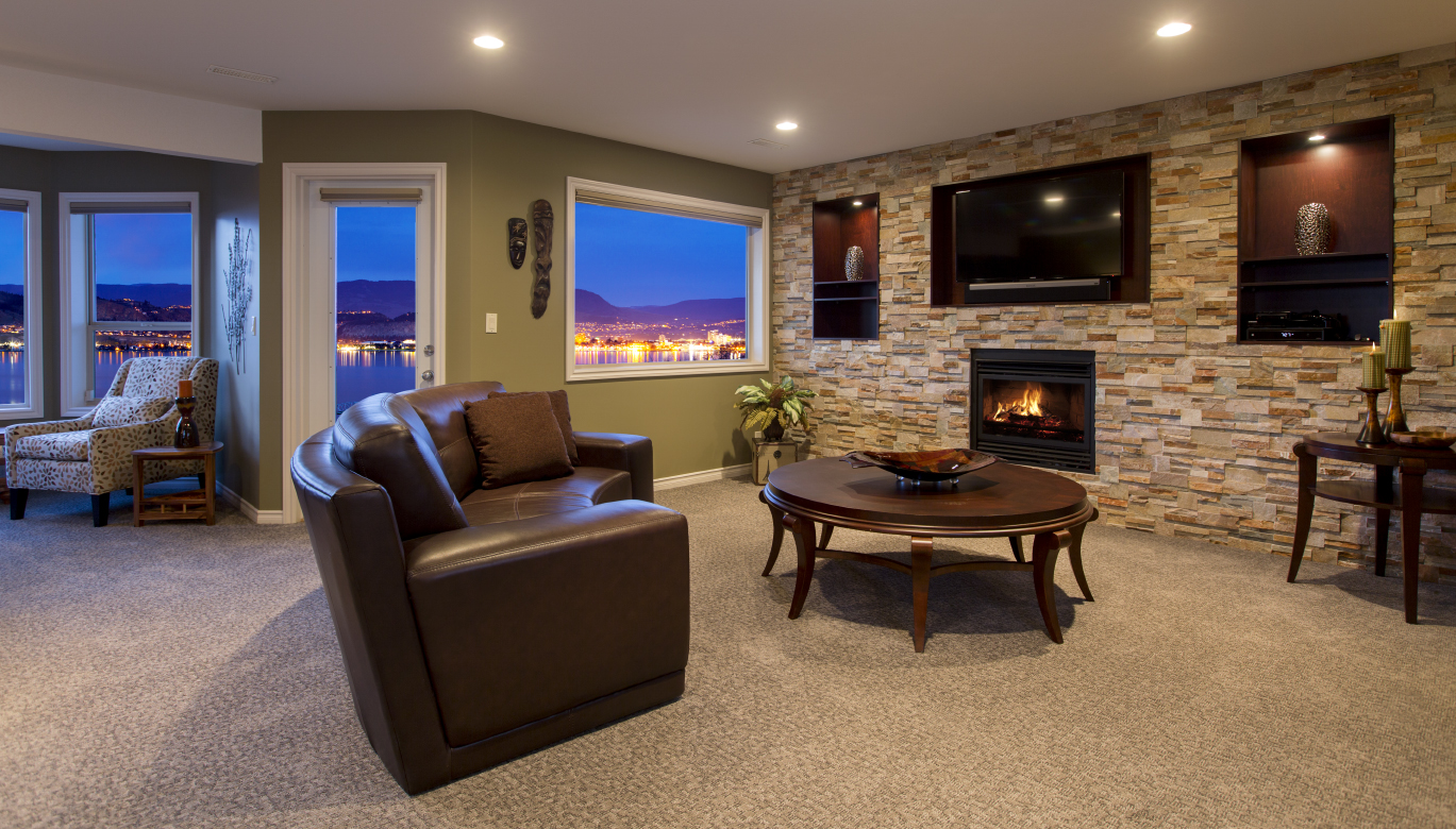 Living room interior design by Creative Touch Kelowna