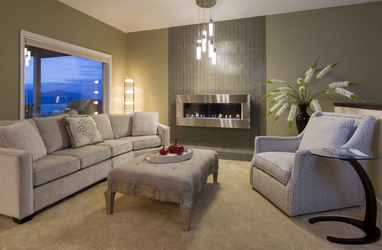 Fireplace Re-design by Creative Interiors Kelowna